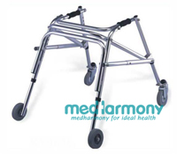 Aluminum Walker with Wheels MH963L